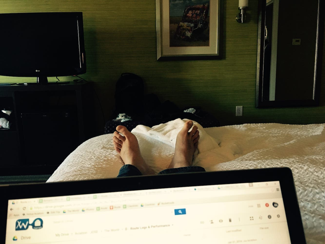 D3 – Birthday Toes – Really it was the First Officer_s Birthday – we stayed up till midnight for a celebratory drink