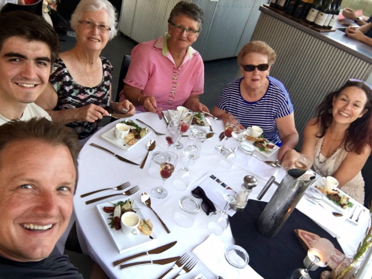 Mel, Shirley, and the 2 Margarets – First Officer Charmed them