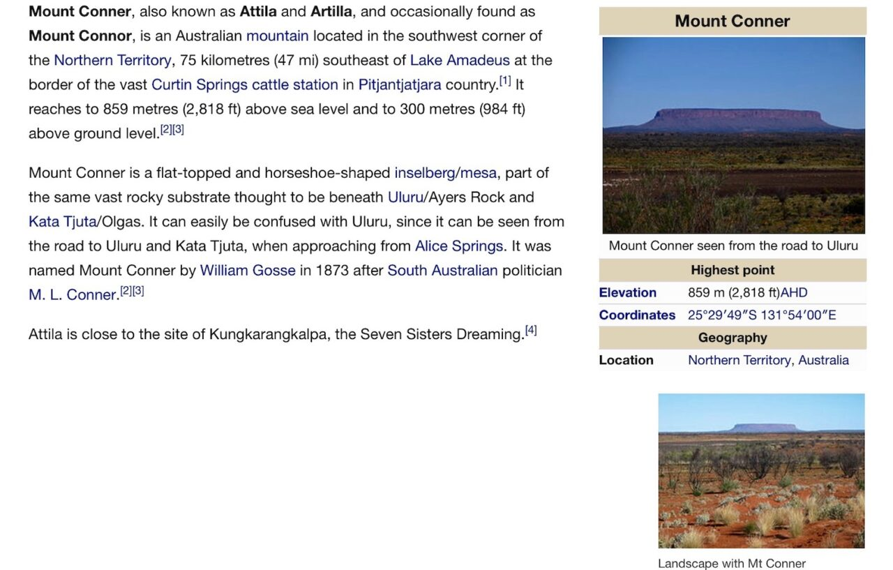 Mount Connor Wiki