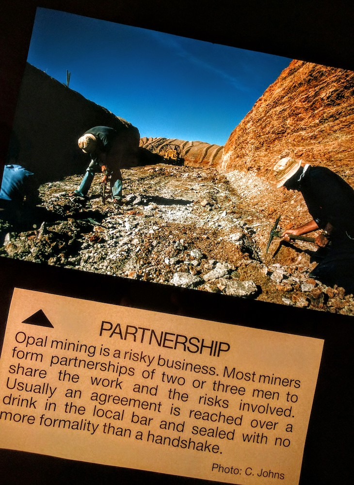 Opal Mining – just like gambling – except you have to work