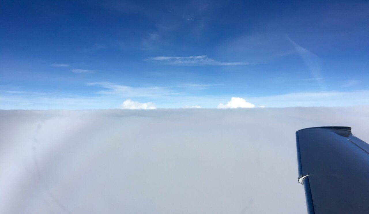 Skimming the clouds at 17k – cool experience