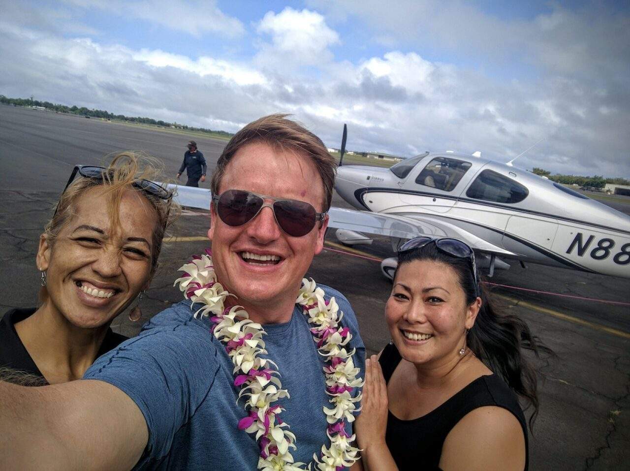 A4 – I love the USA – some countries make you sit on the tarmac for hours – our people greet you with a lei – thank you Shnna and Candiceleee