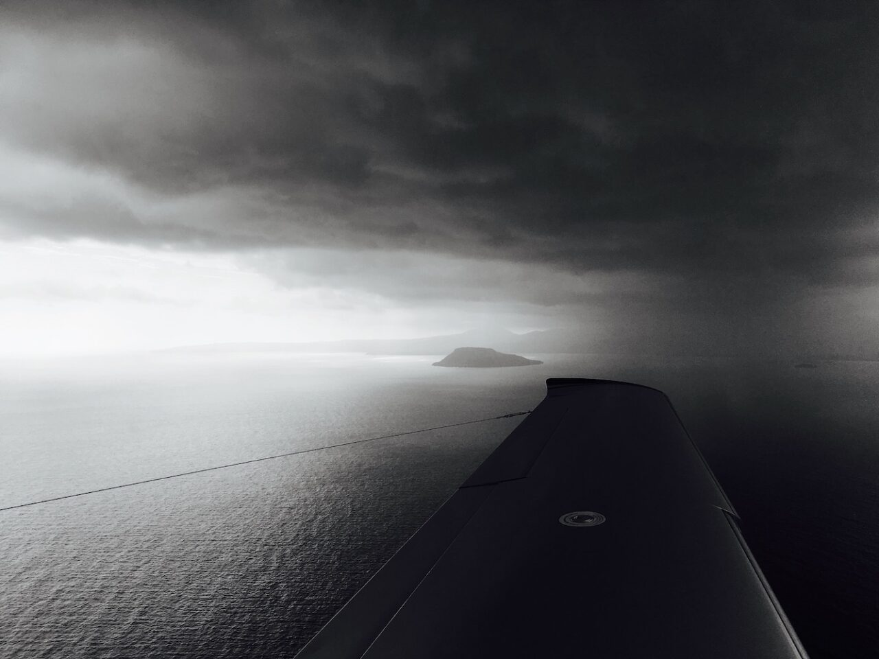 B – Arrival into Santo between the rain showers