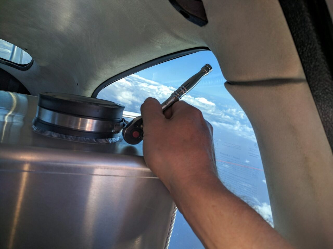 B – Checking remaining fuel in tank 2