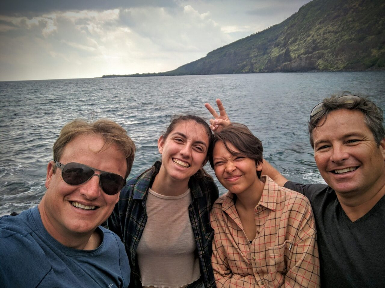 B – Kealakekua Bay with Big Island friends – John, Kameela, and Julia