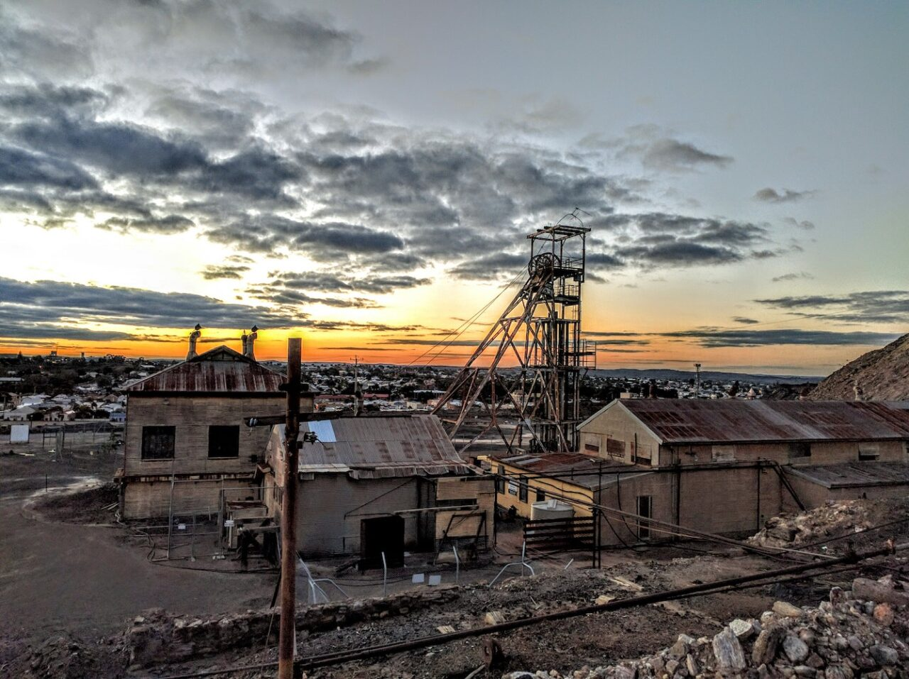 Broken Hill mine stands proud over the town saluting its past and current industry