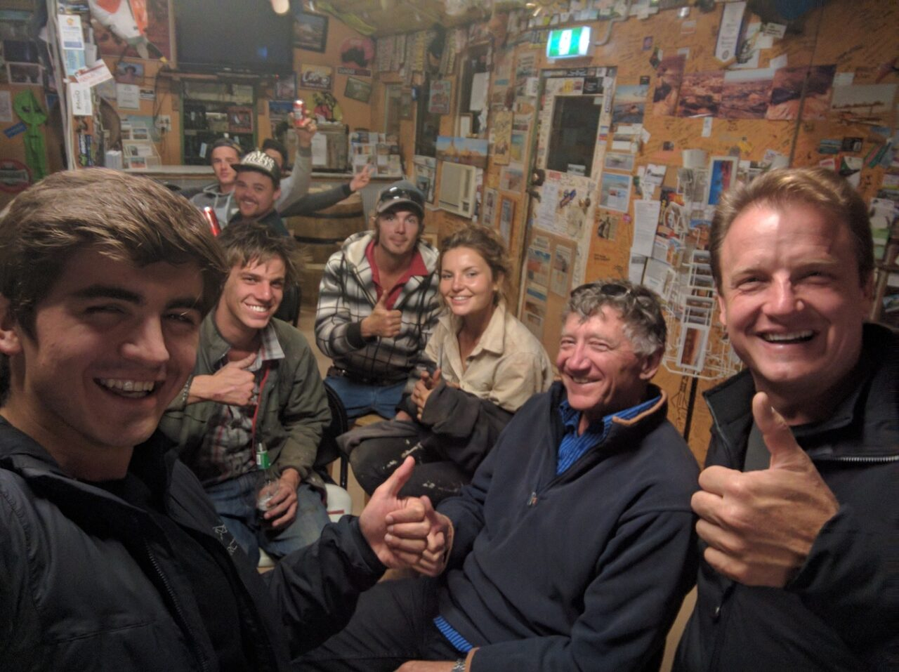 Bush Pilot Andy and crew from Anna Station – largest ranch in Australia