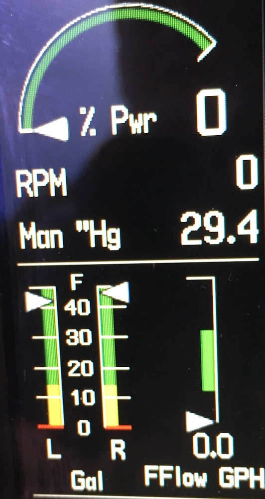 C – Never fun when your RPM connector jiggled loose on takeoff
