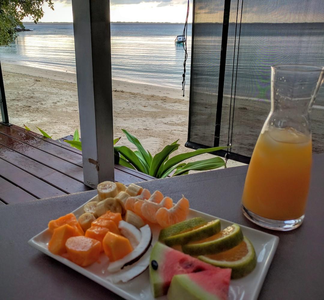 D – Fresh island fruit for breakfast