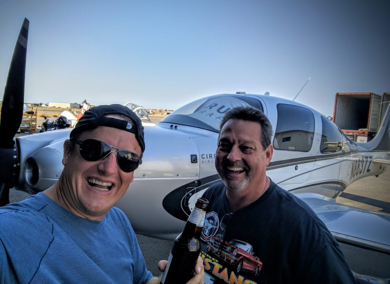 E – My first congrats – soon after rolling into Tracy a fellow aviator asked where I flew in from – he immediately went and got me a beer – wow, it_s been done