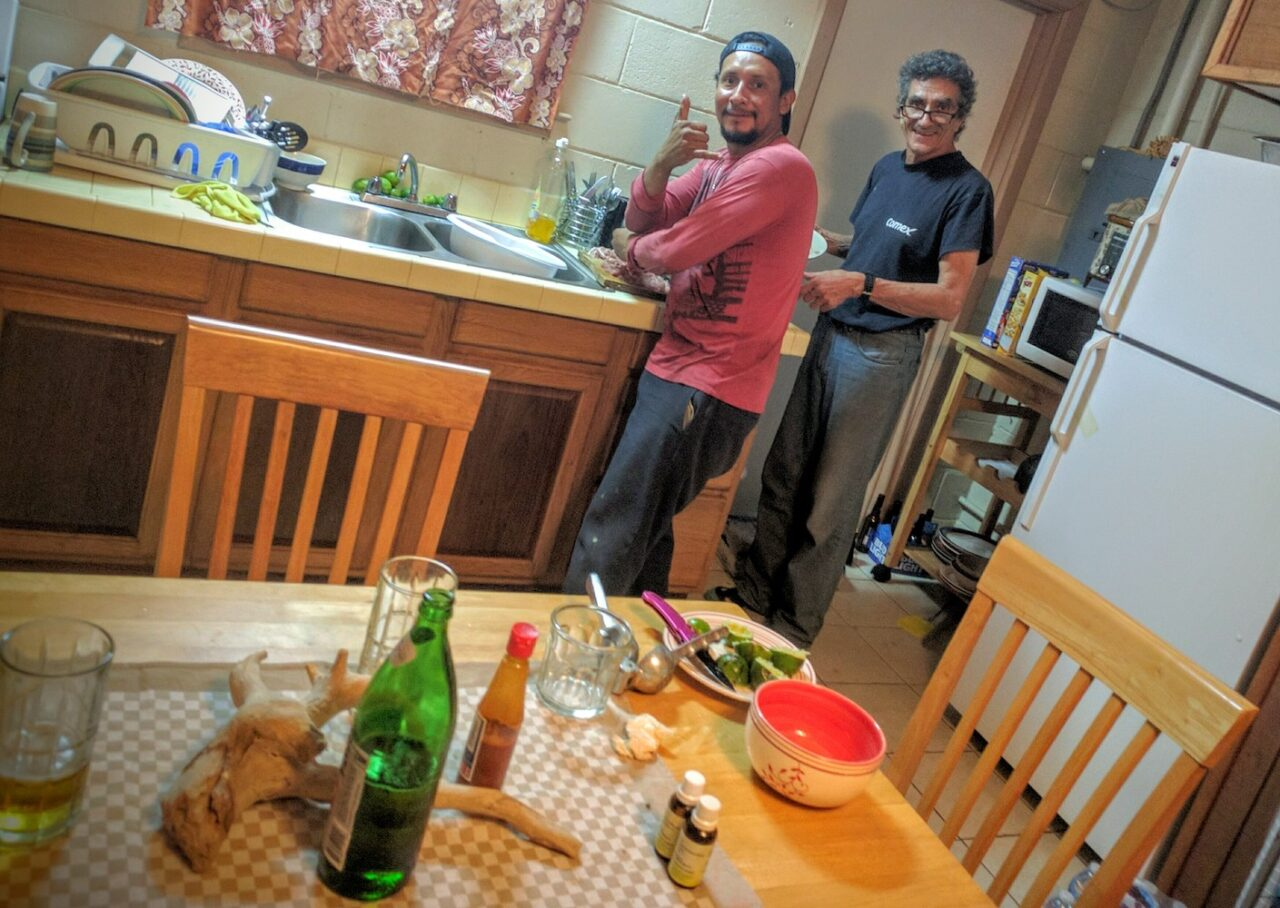 F – Aaron, Guillermo, and the best damn homemade ceviche I_ve ever had