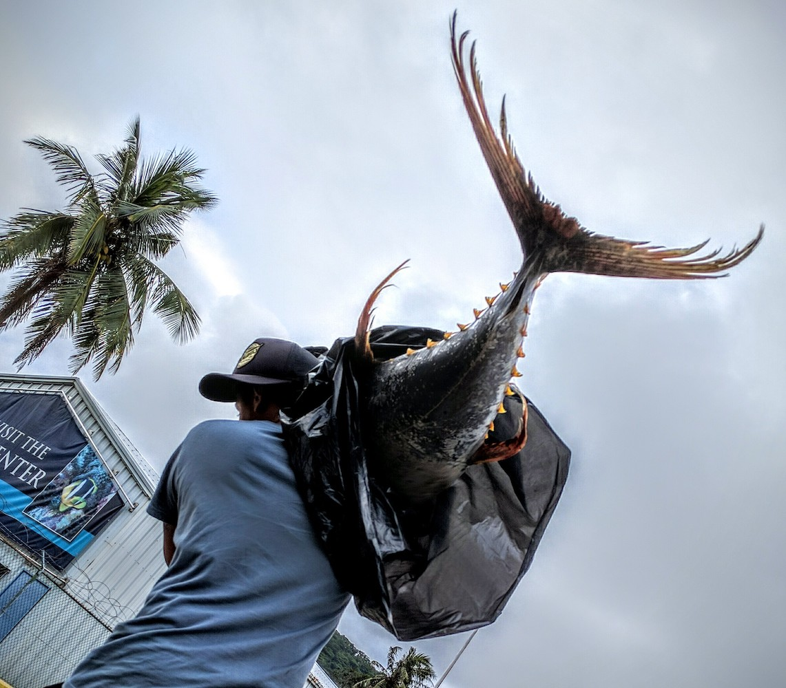 F – Tough to haul your catch when it is bigger than you