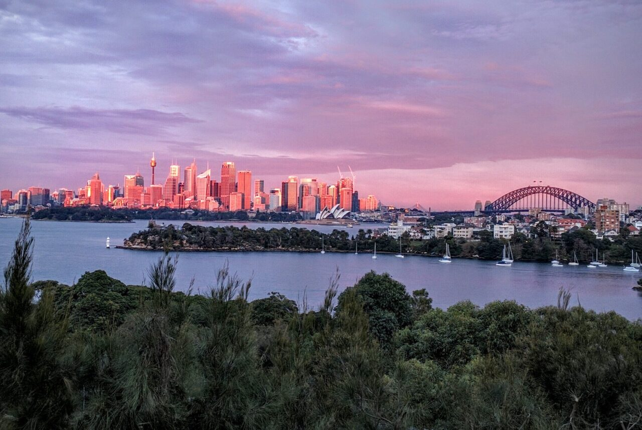 Overlooking Sydney Harbor during daybreak at the Toronga Zoo