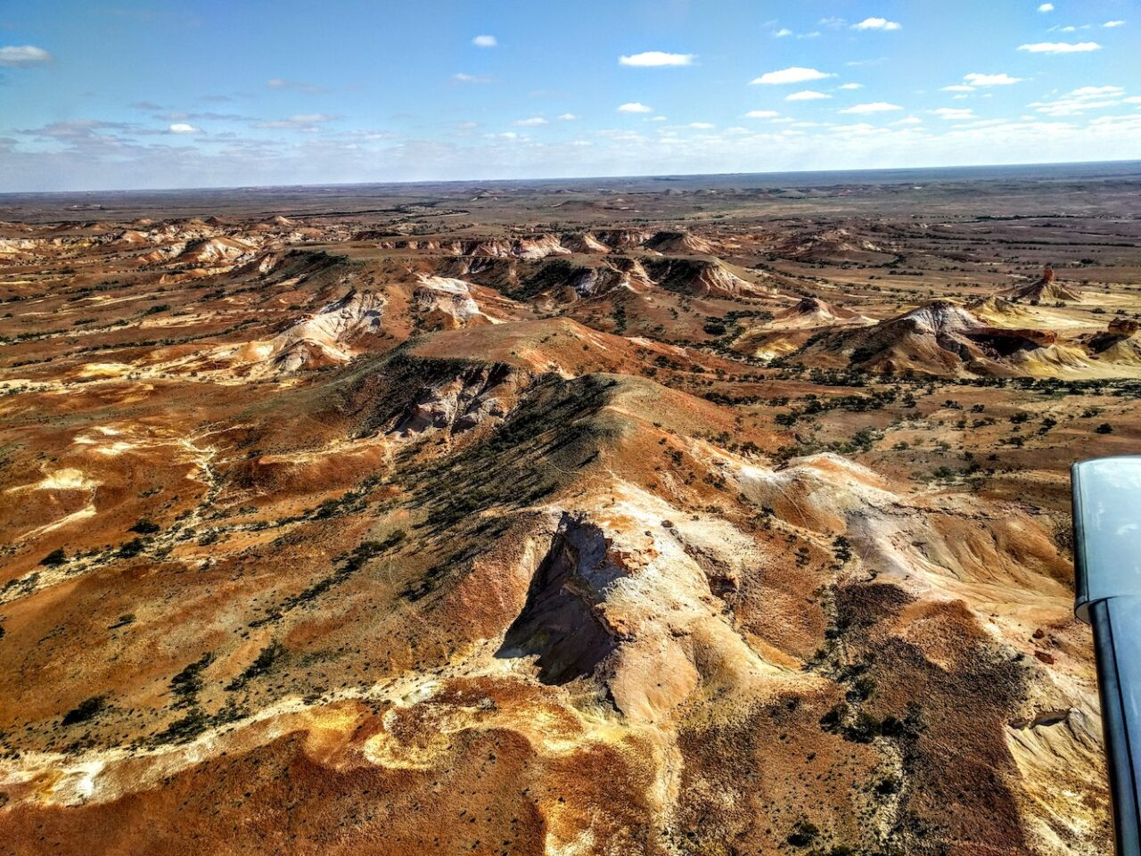 Painted Hills in South Australia – such brilliant colors the one must tone down the photo to make them believable