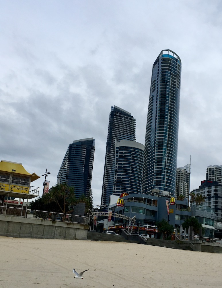Towering over Surfers Paradise Beach